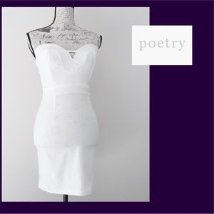 Poetry White Pencil Style Dress